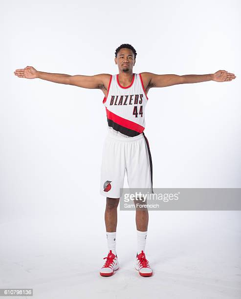 Luis Montero of the Portland Trail Blazers poses for a portrait during the 20162017 Portland Trail Blazer Media Day September 26 2016 at the Veterans...
