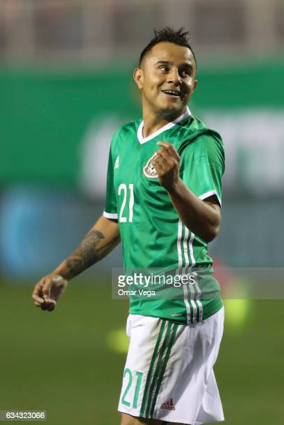 Luis Montes of Mexico gestures during an International Friendly match between Mexico and Iceland at Sam Boyd Stadium on February 08 2017 in Las Vegas...