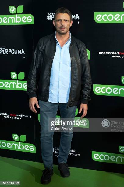Luis Mottola attends 'An Inconvenient Sequel Truth to Power' premiere at the Callao cinema on October 3 2017 in Madrid Spain