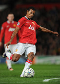 Luis Nani of Manchester United during the UEFA Champions League Group C match between Manchester United and FC Otelul Galati at Old Trafford...