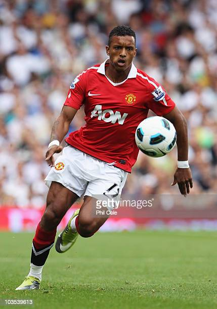 Luis Nani of Manchester United in action during the Barclays Premier League match between Fulham and Manchester United at Craven Cottage on August 22...