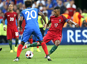 Luis Nani of Portugal in action during the UEFA Euro 2016 final match between Portugal and France at Stade de France on July 10 2016 in SaintDenis...