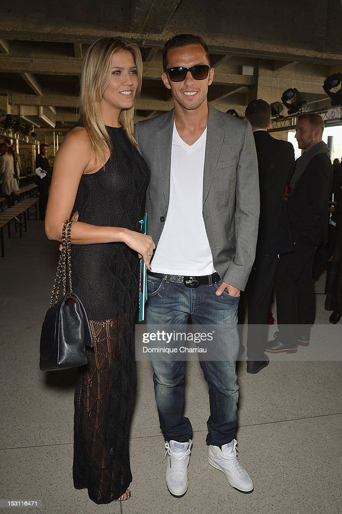 Luis Nene and his girlfriend Jessica Guarducci attend John Galliano Spring / Summer 2013 show as part of Paris Fashion Week on September 30, 2012 in Paris, France.