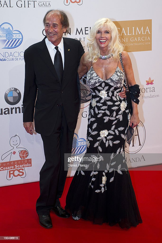 Luis Ortiz and Gunilla Von Bismarck attends the Global Gift Gala 2012 at Gran Melia Resort Don Pepe on August 19, 2012 in Marbella, Spain. The Global Gift Gala is hosted by Cesare Scariolo Foundation and Eva Longoria Foundation to raise money for children.