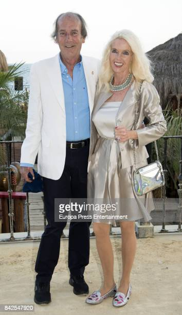 Luis Ortiz and Gunilla Von Bismark from The Grand Ducal Family of Luxembourg are seen having dinner the day before the wedding of MarieGabrielle of...