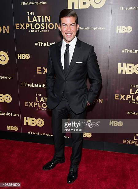 Luis Ortiz attends 'The Latin Explosion A New America' New York premiere at Hudson Theatre on November 10 2015 in New York City