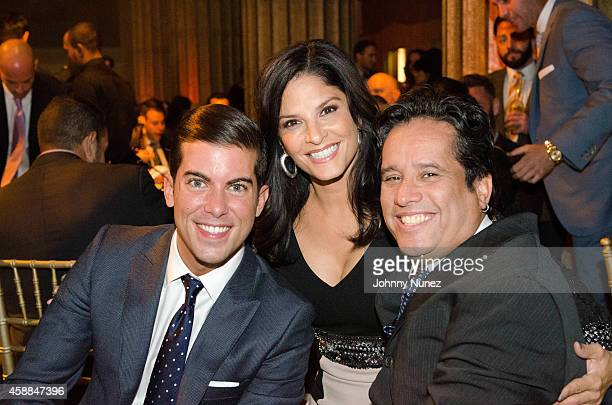 Luis Ortiz Darlene Rodriguez and John 'Jelly Bean' Benitez attend the 6th Annual Christian Rivera Foundation Gala at Broad Street Ballroom on...