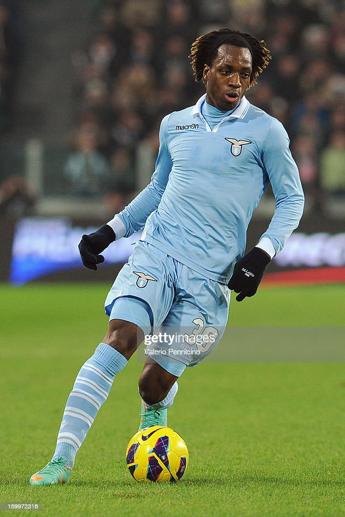 Luis Pedro Cavanda of S.S. Lazio in action during the TIM cup match between Juventus FC and S.S. Lazio at Juventus Arena on January 22, 2013 in Turin, Italy.