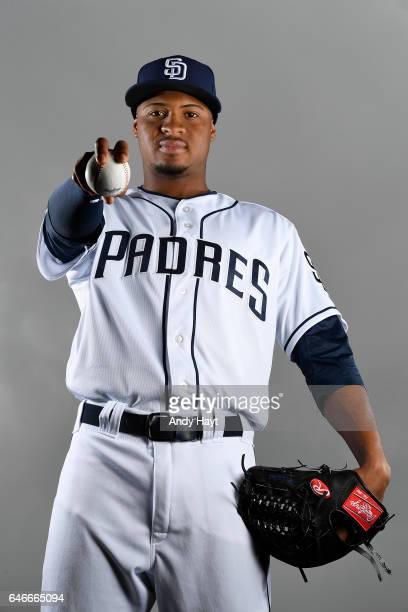 Luis Perdomo of the San Diego Padres poses for a portrait on photo day at the Peoria Sports Complex on February 19 2017 in Peoria Arizona