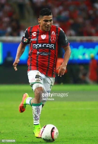 Luis Perez of Necaxa during the third round match between Chivas and Necaxa as part of the Torneo Apertura 2017 Liga MX at Chivas Stadium on August...