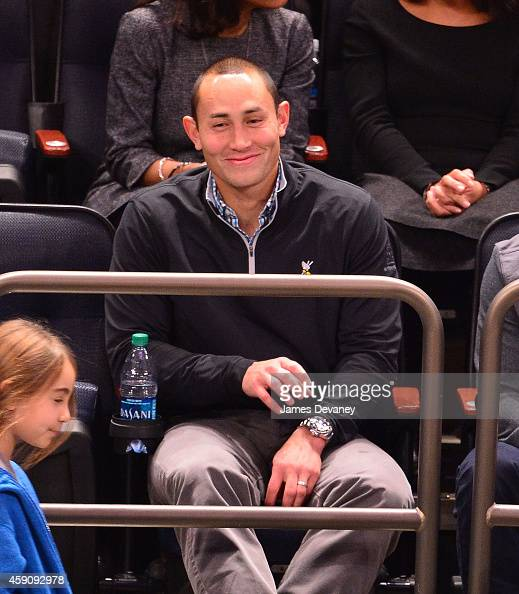 Luis Robles attends the Denver Nuggets vs New York Knicks game on November 16 2014 in New York City
