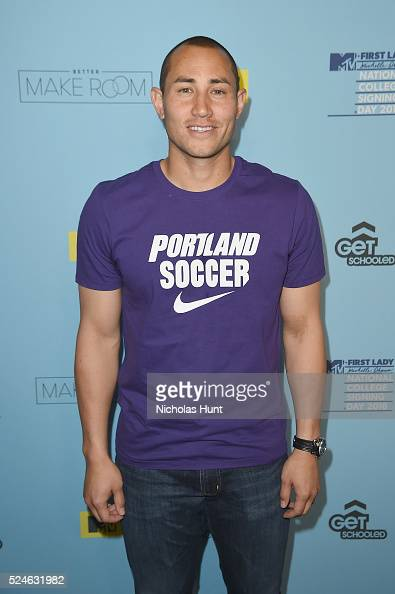 Luis Robles backstage during the 3rd Annual College Signing Day at the Harlem Armory on April 26 2016 in New York City The event cohosted by MTV was...