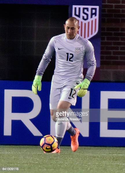 Luis Robles of USA plays against Jamaica during a friendly international match at Finley Stadium on February 3 2017 in Chattanooga Tennessee