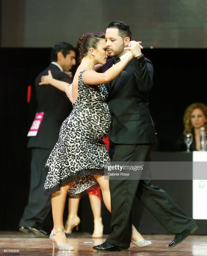 Luis Romero and Ana Migoni of Argentina dance during the final round of the Tango Salon competition as part of the Buenos Aires International Tango Festival and Championship 2017 at Luna Park on August 22, 2017 in Buenos Aires, Argentina.