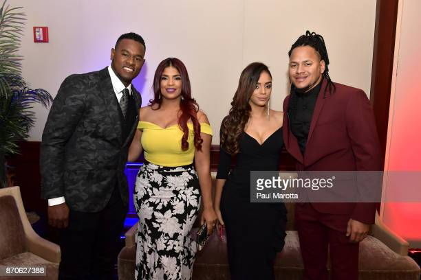 Luis Severino and Carlos Martinez attend 2nd Annual Pedro Martinez Charity Gala at The Colonnade Boston Hotel on November 3 2017 in Boston...