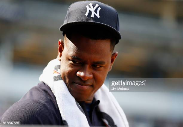 Luis Severino of the New York Yankees in action against the Baltimore Orioles at Yankee Stadium on September 17 2017 in the Bronx borough of New York...