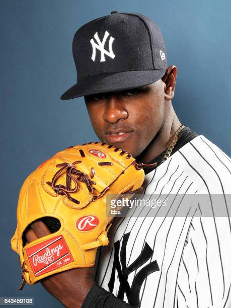 Luis Severino of the New York Yankees poses for a portrait during the New York Yankees photo day on February 21 2017 at George M Steinbrenner Field...