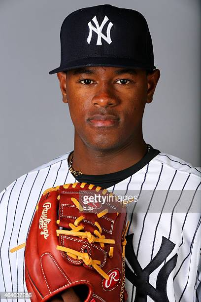 Luis Severino of the New York Yankees poses for a portrait on February 27 2015 at George M Steinbrenner Stadium in TampaFlorida