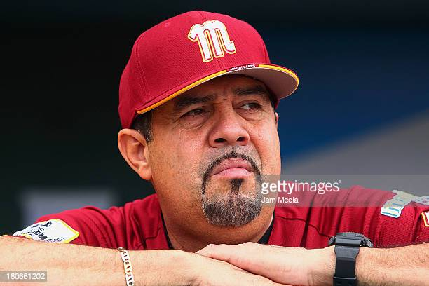 Luis Sojo coach of Venezuela looks on during the Caribbean Series 2013 at Sonora Stadium on February 03 2013 in Hermosillo Mexico