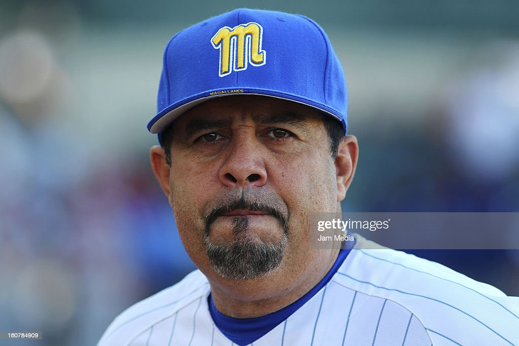<a gi-track='captionPersonalityLinkClicked' href=/galleries/search?phrase=Luis+Sojo&family=editorial&specificpeople=213005 ng-click='$event.stopPropagation()'>Luis Sojo</a> manager of Venezuela looks on during a match between Puerto Rico and Venezuela as part of the Caribbean Series 2013 at Sonora Stadium on February 05, 2013 in Hermosillo, Mexico.