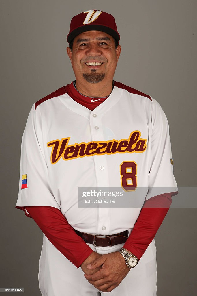 <a gi-track='captionPersonalityLinkClicked' href=/galleries/search?phrase=Luis+Sojo&family=editorial&specificpeople=213005 ng-click='$event.stopPropagation()'>Luis Sojo</a> #8 of Team Venezuela poses for a headshot for the 2013 World Baseball Classic at Roger Dean Stadium on Monday, March 4, 2013 in Jupiter, Florida.