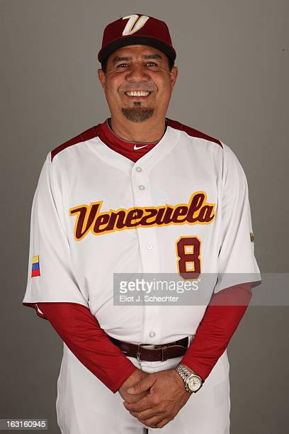 Luis Sojo of Team Venezuela poses for a headshot for the 2013 World Baseball Classic at Roger Dean Stadium on Monday March 4 2013 in Jupiter Florida