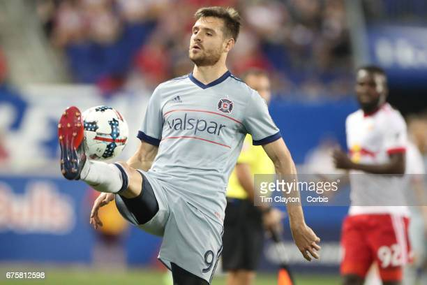 Luis Solignac of Chicago Fire in action during the New York Red Bulls Vs Chicago Fire MLS regular season match at Red Bull Arena Harrison New Jersey...