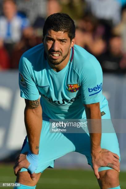 Luis Suarez during the match between CD Leganes vs FC Barcelona week 12 of La Liga at Butarque stadium Leganes Madrid Spain on 18th November of 2017