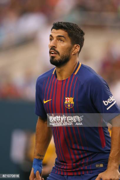 Luis Suarez of FC Barcelona during the International Champions Cup 2017 match between Juventus and FC Barcelona at MetLife Stadium on July 22 2017 in...
