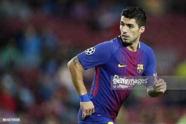 Luis Suarez of FC Barcelona during the UEFA Champions League group D match between FC Barcelona and Olympiacos on October 18 2017 at the Camp Nou...
