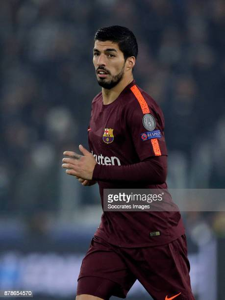 Luis Suarez of FC Barcelona during the UEFA Champions League match between Juventus v FC Barcelona at the Allianz Stadium on November 22 2017 in...