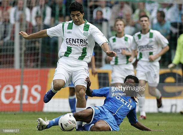 Luis Suarez of FC Groningen Serginho Greene of Feyenoord during the Dutch Eredivisie match between FC Groningen and Vitesse Arnhem on August 20 2006...