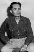 Luis Taruc rebel leader of the Huks in the Philippines and founder of the communist struggle in the Philippines shown in an undated and unlocated...