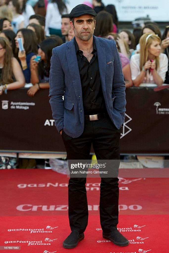 <a gi-track='captionPersonalityLinkClicked' href=/galleries/search?phrase=Luis+Tosar&family=editorial&specificpeople=3383932 ng-click='$event.stopPropagation()'>Luis Tosar</a> attends 16 Malaga Film Festival ceremony at Teatro Cervantes on April 27, 2013 in Malaga, Spain.