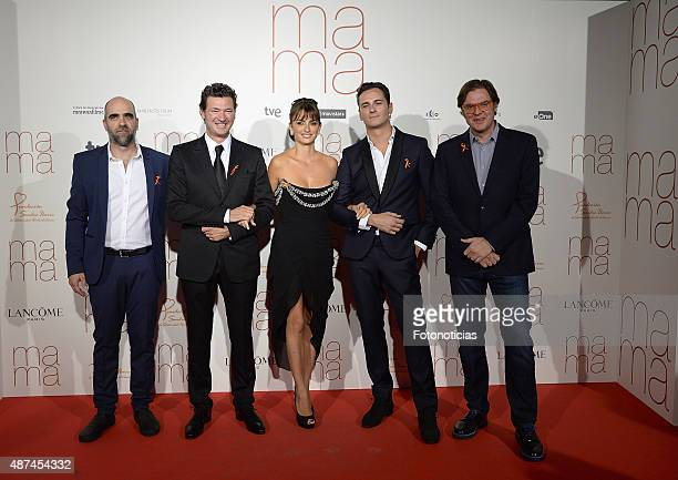 Luis Tosar Julio Medem Asier Etxeandia Penelope Cruz and Alvaro Longoria attend the 'Ma Ma' Premiere at the Capitol Cinema on September 9 2015 in...