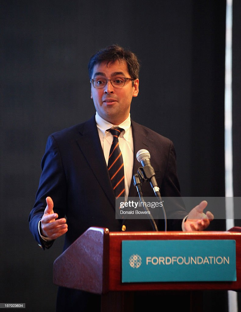 Luis Ubinas speaks during a panel at The Ford Foundation Hosts Day Of Discussion On The Hidden World Of Domestic Work In The US at Ford Foundation on November 27, 2012 in New York City.