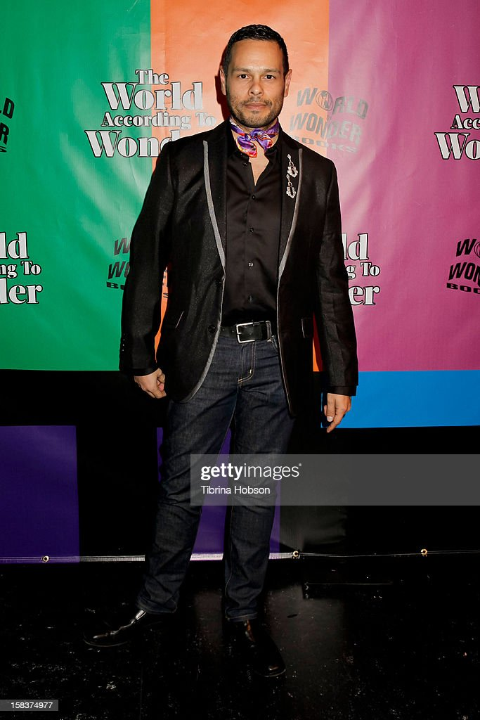 Luis Xtravaganza Camacho attends the 'World Of Wonder' book release party at Universal Studios Backlot on December 13, 2012 in Universal City, California.
