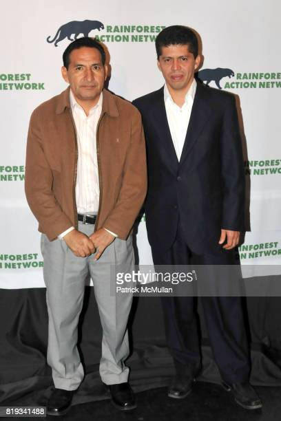 Luis Yanza and Pablo Fajardo attend RAINFOREST ACTION NETWORK's 25th Anniversary Benefit Hosted by CHRIS NOTH at Le Poisson Rouge on April 29 2010 in...