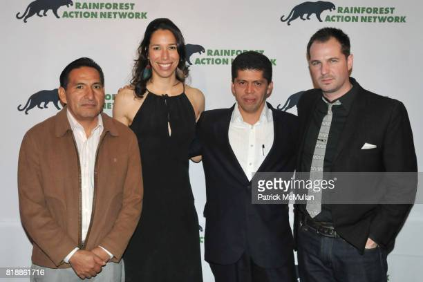 Luis Yanza Maria Ramos Pablo Fajardo and Han Shan attend RAINFOREST ACTION NETWORK's 25th Anniversary Benefit Hosted by CHRIS NOTH at Le Poisson...
