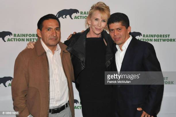 Luis Yanza Trudie Styler and Pablo Fajardo attend RAINFOREST ACTION NETWORK's 25th Anniversary Benefit Hosted by CHRIS NOTH at Le Poisson Rouge on...