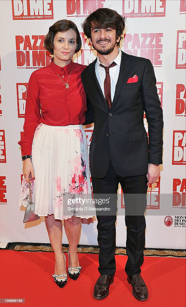 Luisa Bertoldo and Francesco Mandelli attend 'Pazze di Me' Premiere at Cinema Odeon on January 22, 2013 in Milan, Italy.