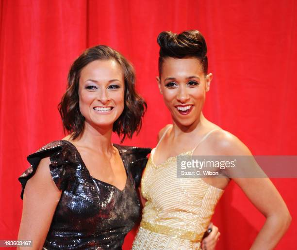 Luisa Bradshaw and Rebecca Scroggs attend the British Soap Awards at Hackney Empire on May 24 2014 in London England