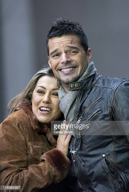 Luisa Fernanda Ricky Martin during Ricky Martin Interviews with Telemundo TV at Rockefeller Plaza November 9 2005 at Rockefeller Plaza in New York...