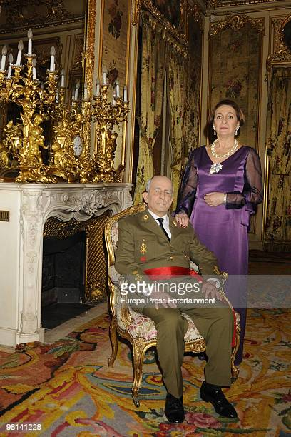 Luisa Gavasa as Carmen Polo and Francisco Vidal as Franco at the tv movie 'Alfonso de Borbon y Dampierre The damned Prince' on March 30 2010 in...