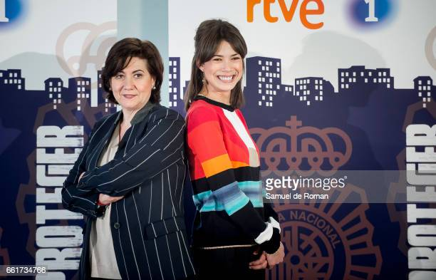 Luisa Martin and Andrea del Rio attends a Servir y Proteger photocall on March 31 2017 in Burgos Spain