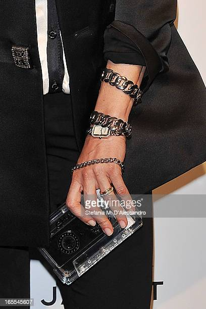 Luisa Ranieri attends Chanel The Little Black Jacket Karl Lagerfeld Photography Exhibition Dinner Party on April 4 2013 in Milan Italy