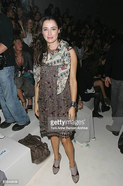 Luisa Ranieri attends the Kenzo Pret a Porter show as part of the Paris Womenswear Fashion Week Spring/Summer 2010 at Palais De Tokyo on October 7...