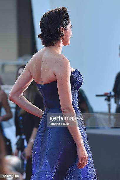 Luisa Ranieri attends the Opening Ceremony and 'Birdman' premiere during the 71st Venice Film Festival at Palazzo Del Cinema on August 27 2014 in...