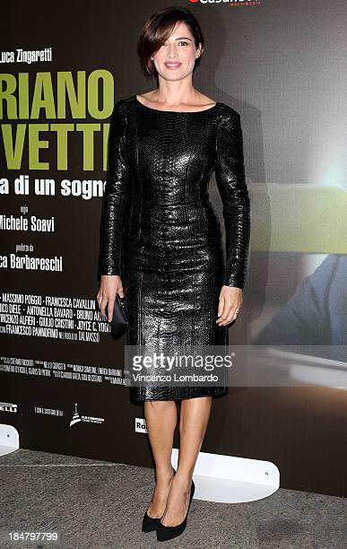 Luisa Ranieri attends the preview of film 'Adriano Olivetti La forza di un sogno' on October 16 2013 in Milan Italy