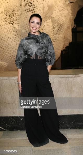 Luisa Ranieri during Loris Cecchini Exhibition Fendi Party at Palais de Tokyo in Paris France
